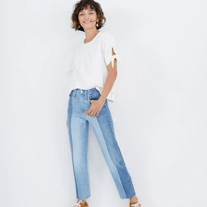 Madewell Straight Jeans in Clairmont Wash: Pieced